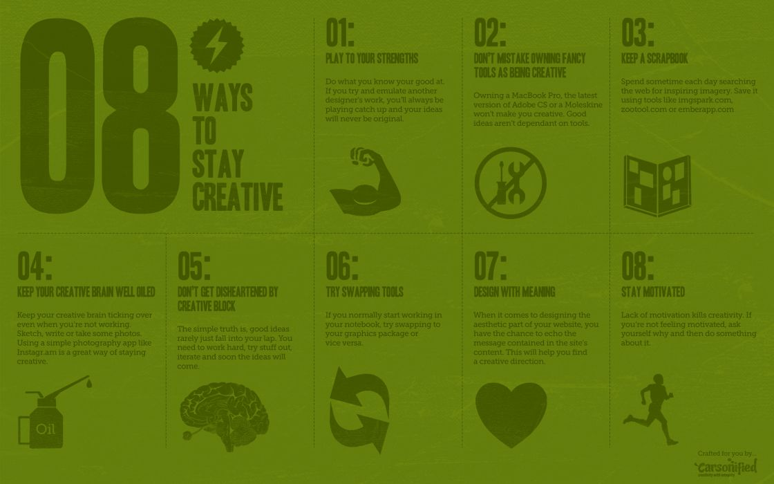 8 ways to stay creative wallpaper