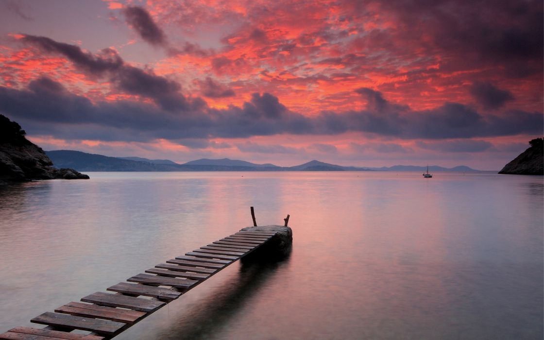 Quiet sunset wallpaper