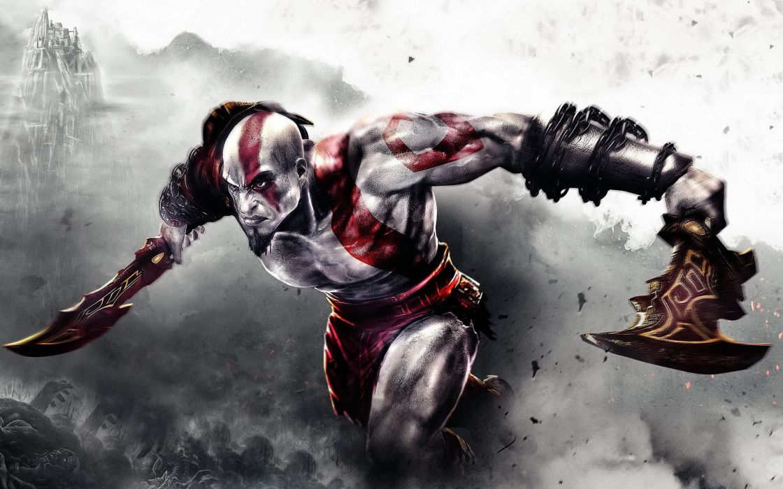 Angry Kratos wallpaper