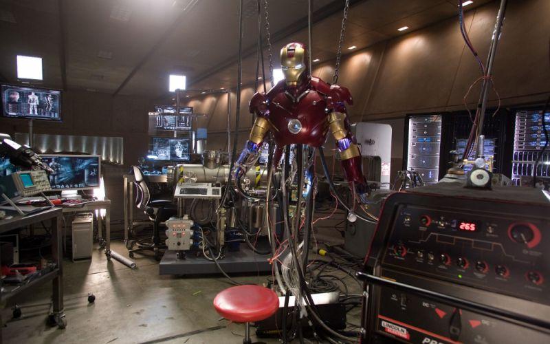Iron man laboratory wallpaper
