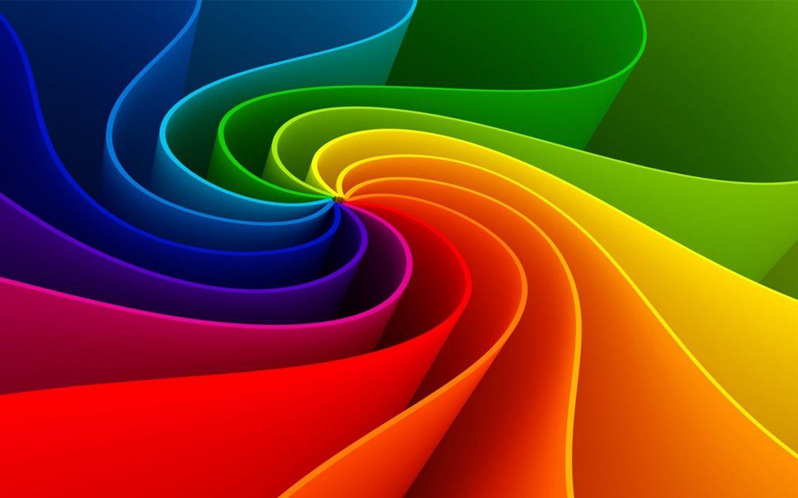 Amazing abstract rainbow wallpaper