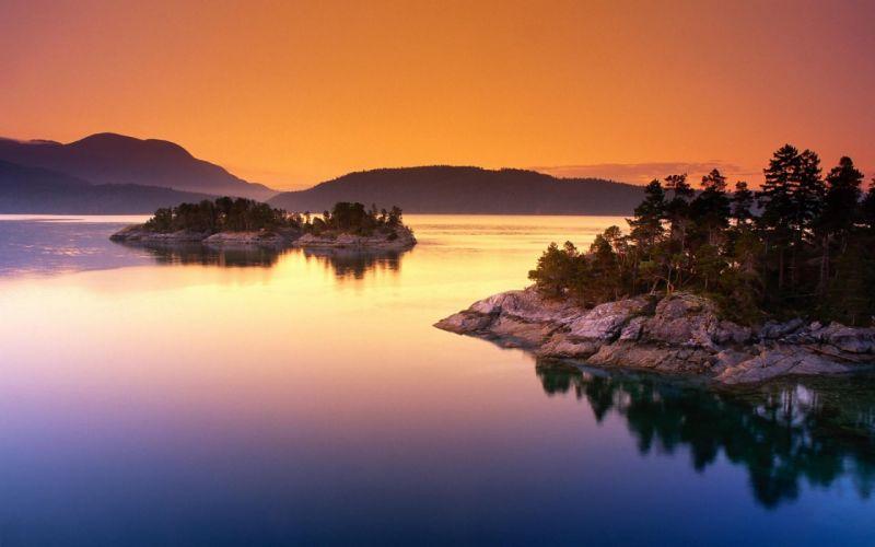 Scenic curme islands desolation sound wallpaper