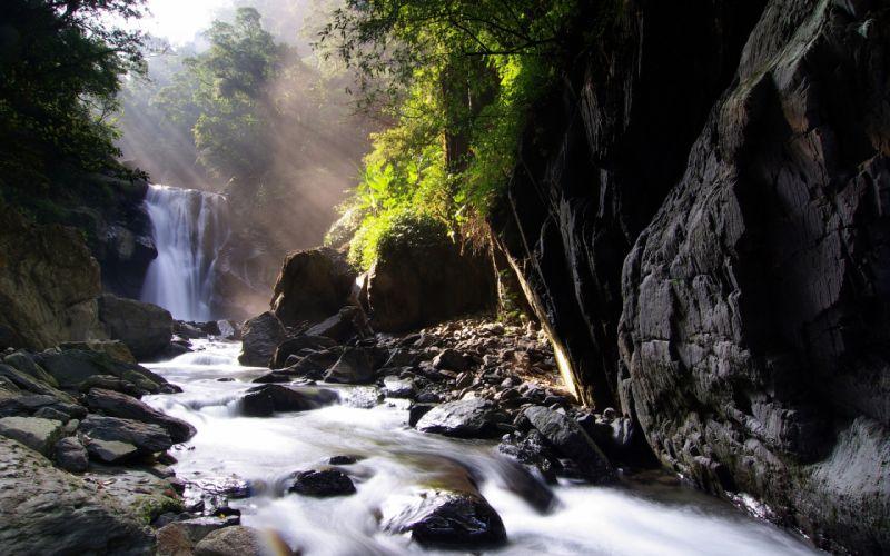 Nei dong waterfall wallpaper