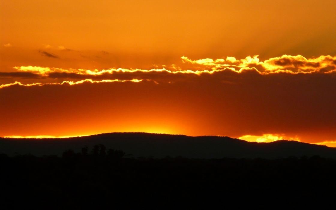 Horizon sunset wallpaper