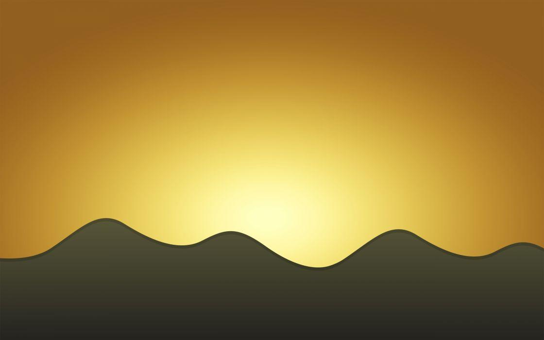 Sunset minimal wallpaper