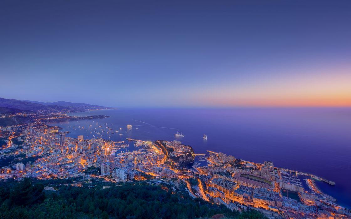 Night Monaco wallpaper