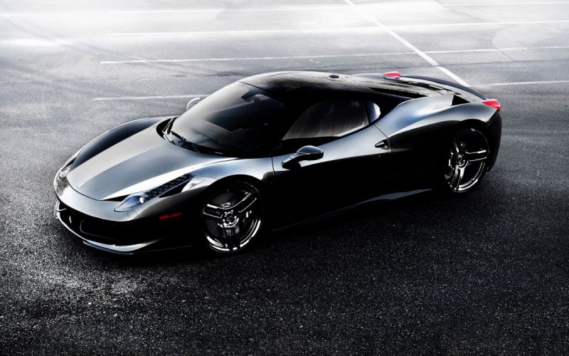 Ferrari 458 black wallpaper