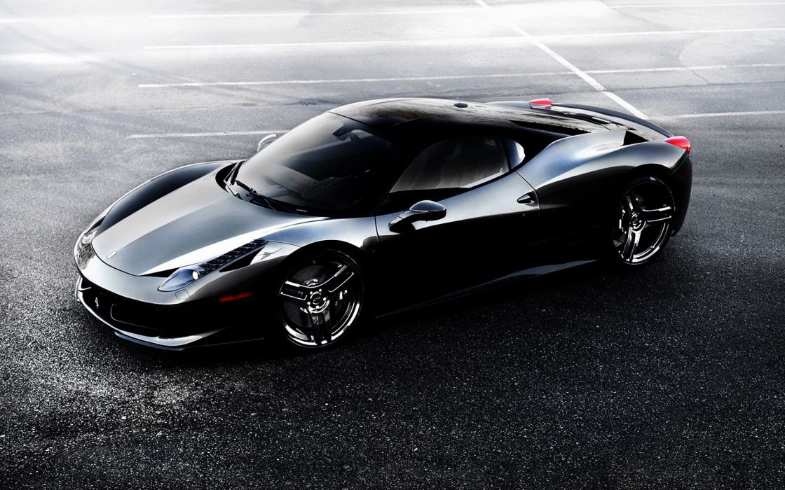 Ferrari 458 Black Wallpaper 2880x1800 4335 Wallpaperup
