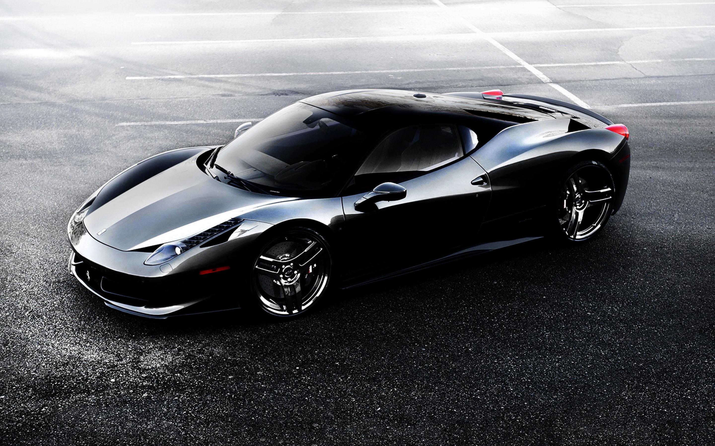 Ferrari 458 Black Wallpaper