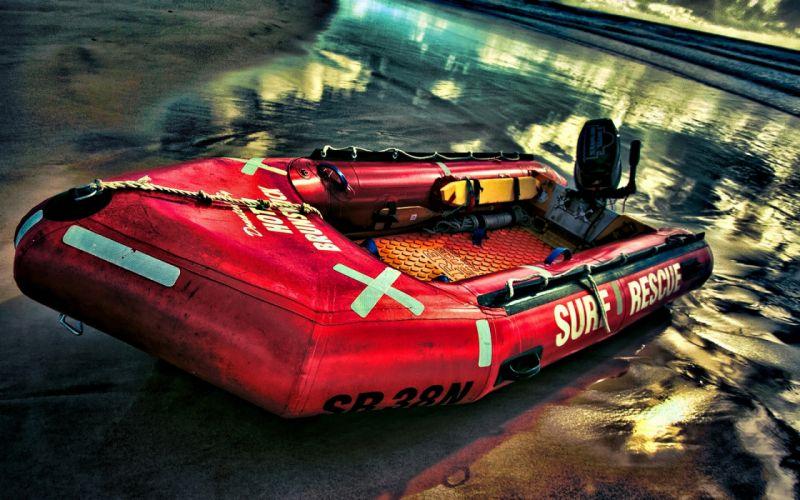 Lifesaver boat wallpaper