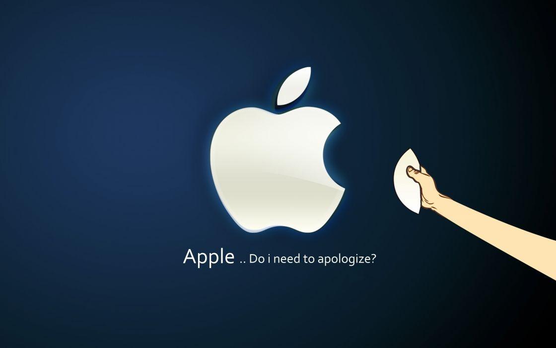 Apple question wallpaper