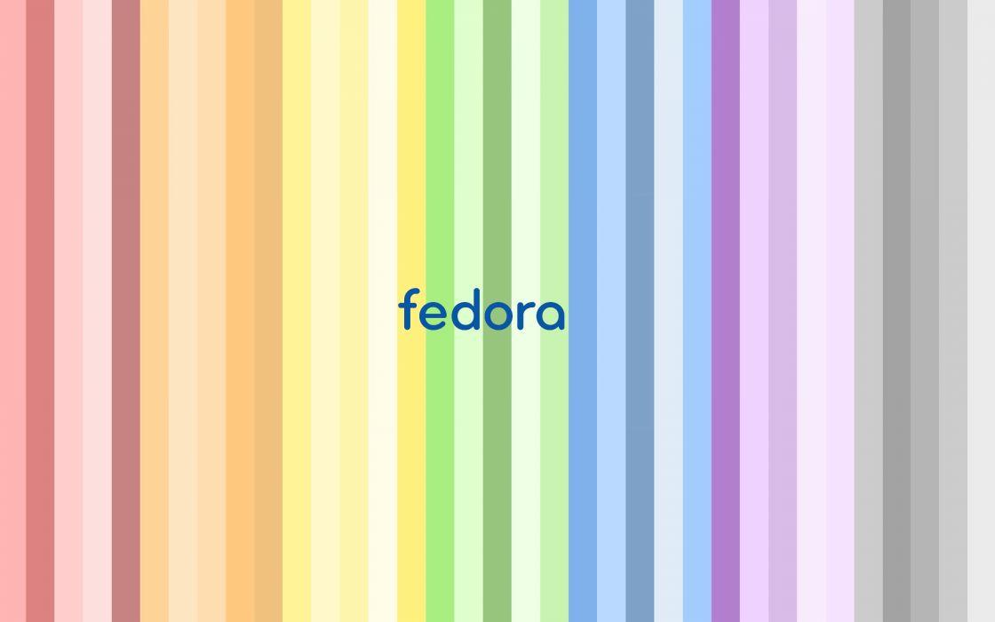 Fedora colored stripes wallpaper