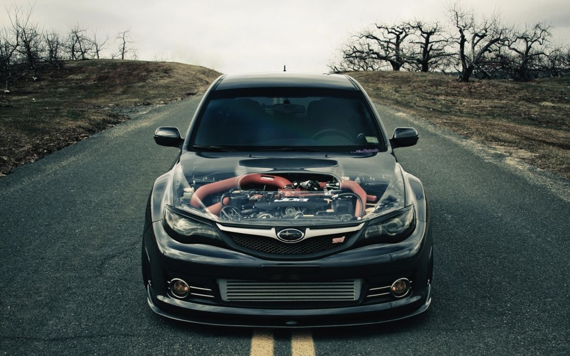 Dark Subaru Impreza STI wallpaper
