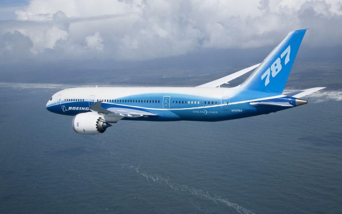 Boeing 787 flying wallpaper
