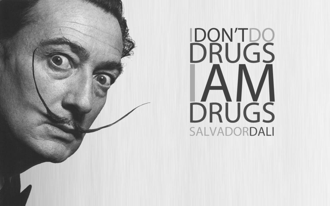 Salvador Dali quote wallpaper