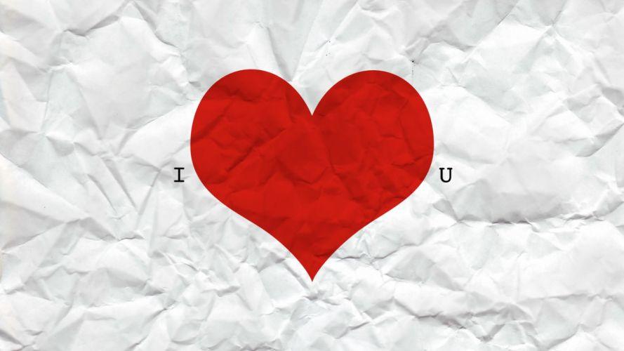 I heart u wallpaper