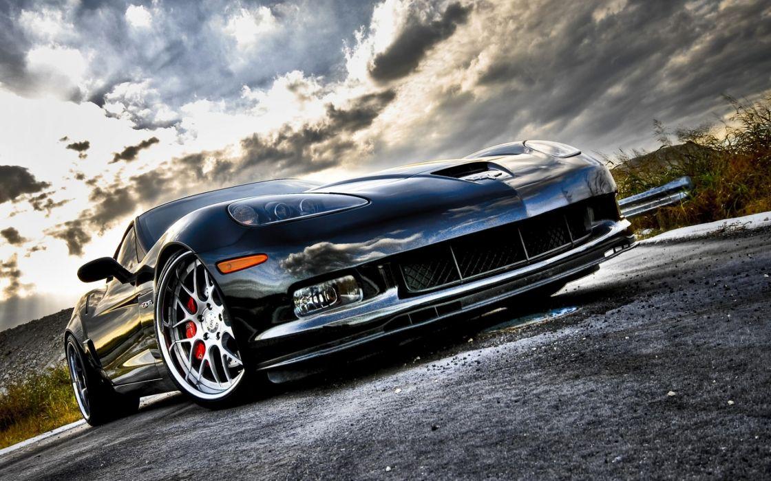 Corvette super sport front angle wallpaper