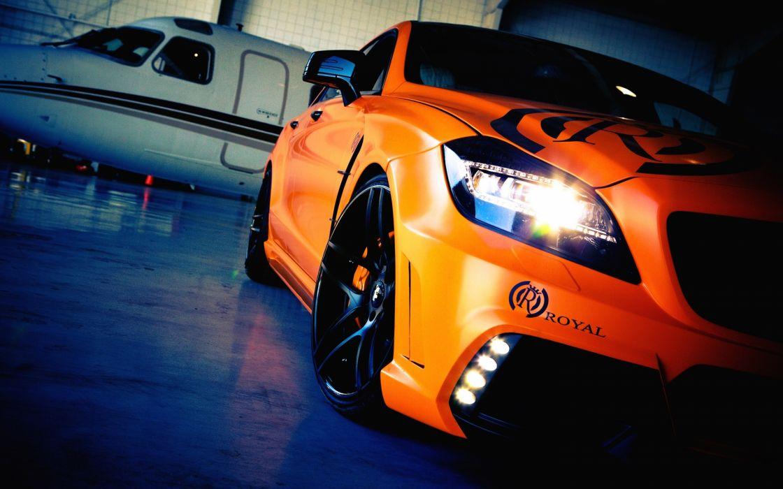 Orange Mercedez cls tuning wallpaper