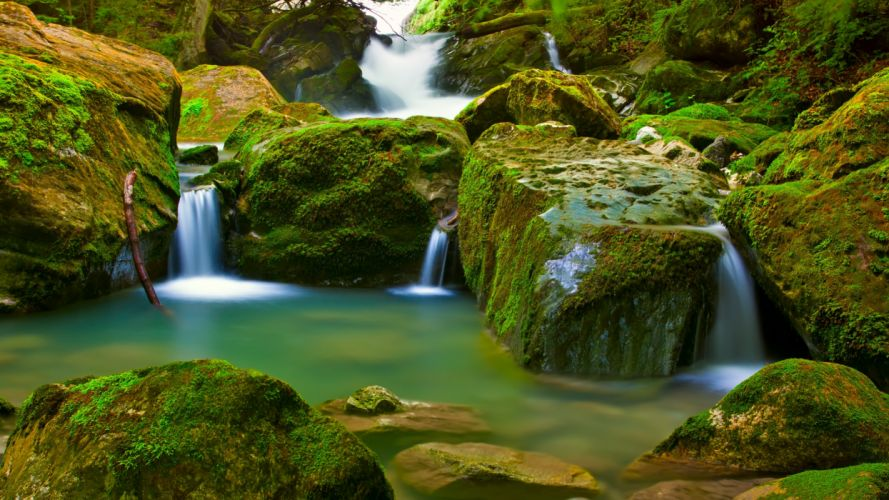 Small waterfall wallpaper