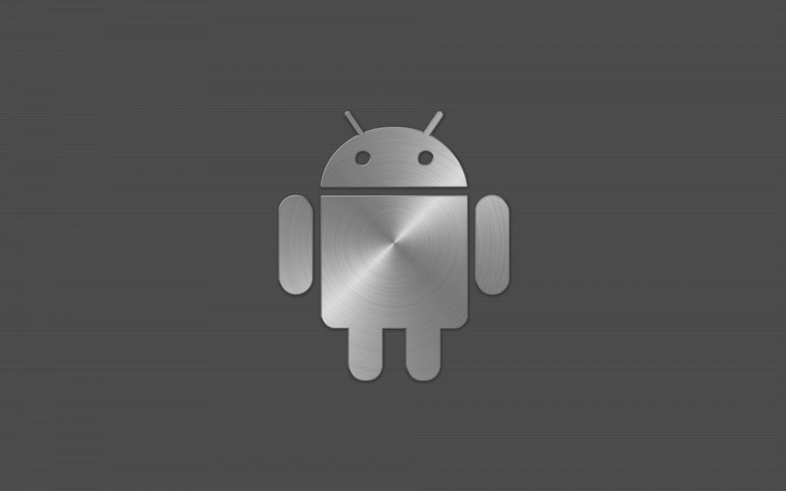 Android metal logo wallpaper
