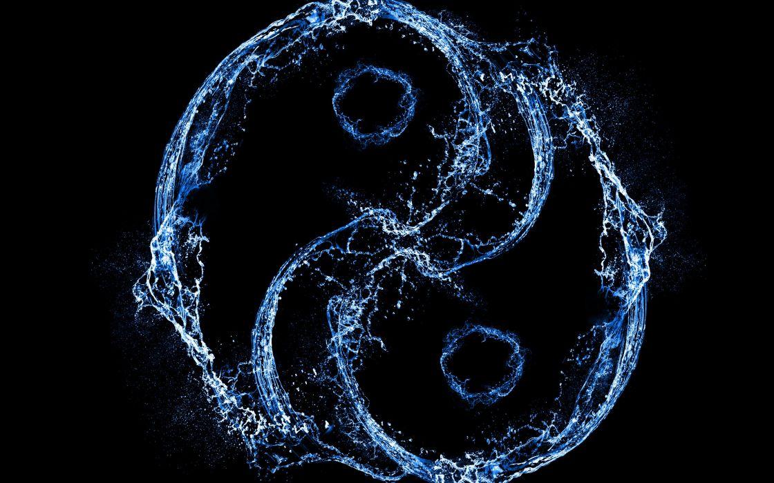 Water ying and yang wallpaper