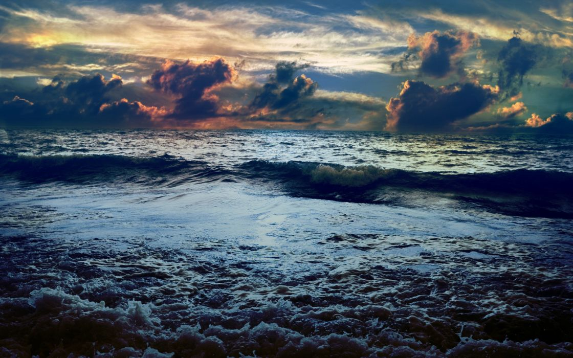Sea waves landscape wallpaper