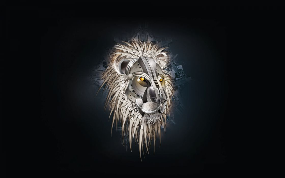Lion head drawing wallpaper