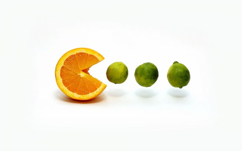 Orange and lime wallpaper