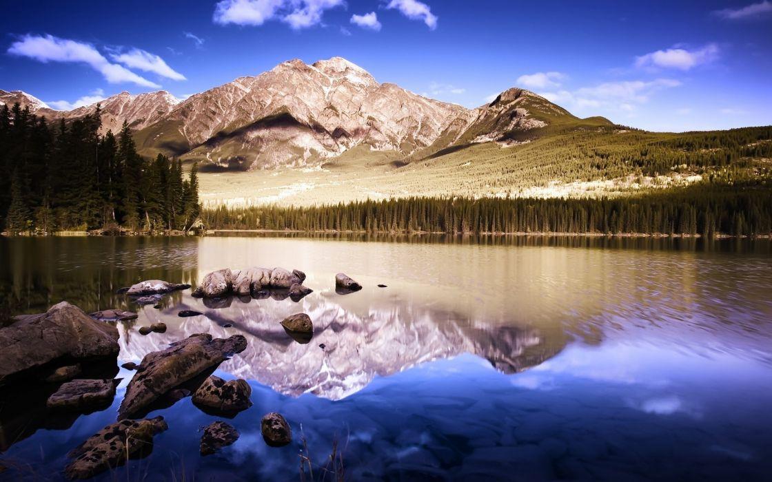 Superb mountain photo wallpaper