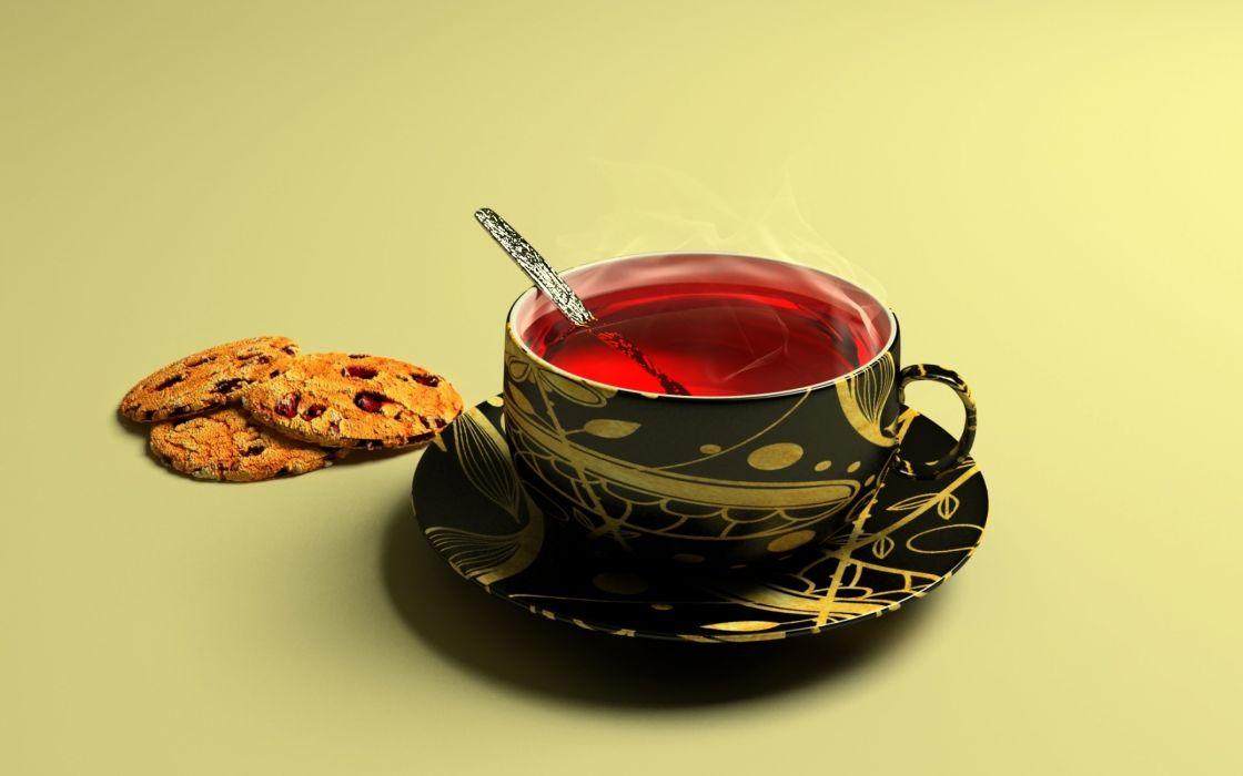 Cup of tea wallpaper