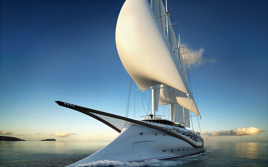 Luxury yacht wallpaper