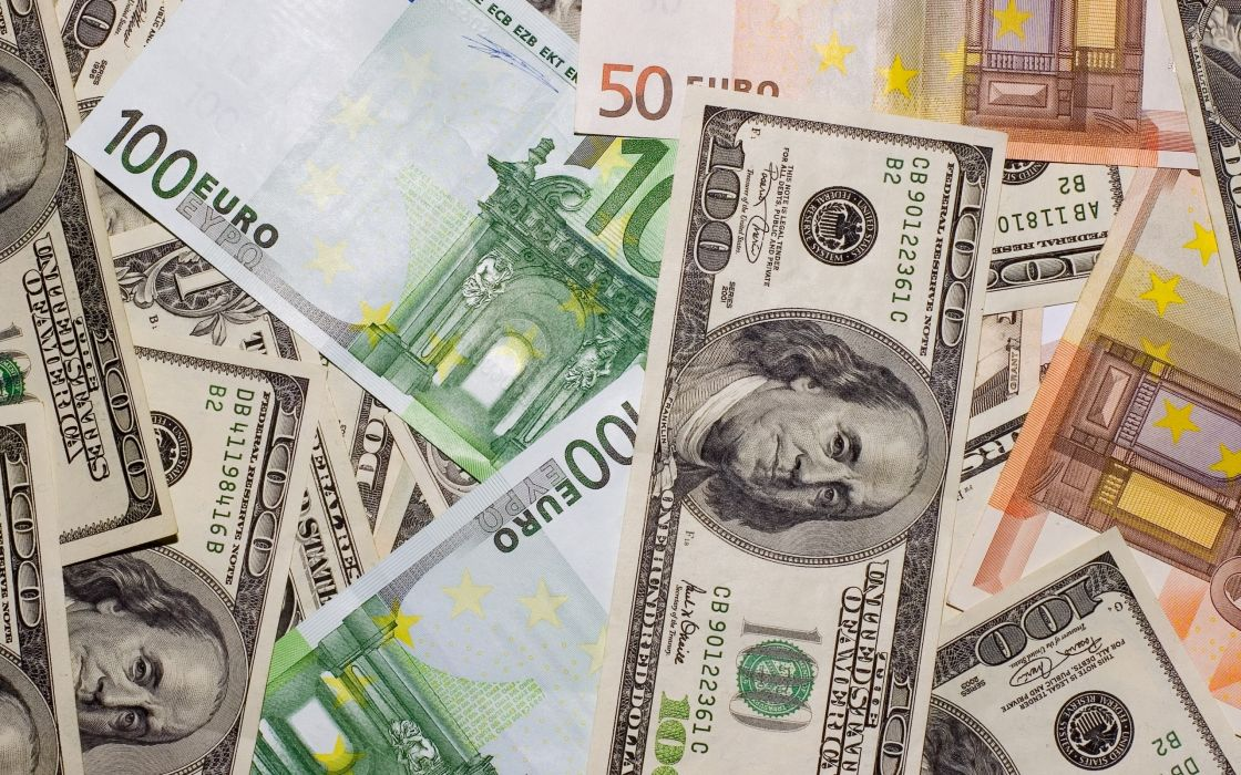 Dollars and euros wallpaper