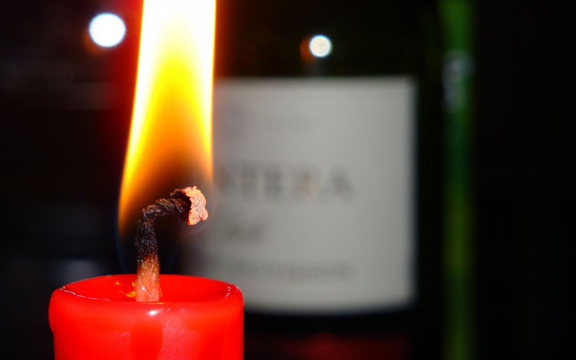 Candle and wine wallpaper