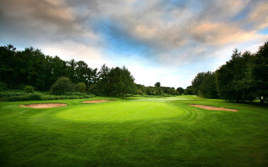 Green golf wallpaper