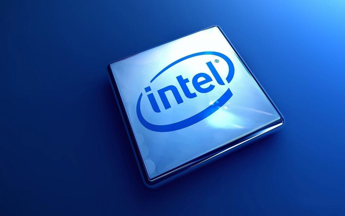 Intel 3d logo wallpaper