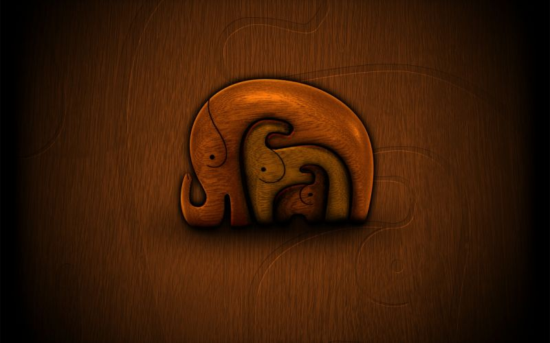 Three elephants wallpaper