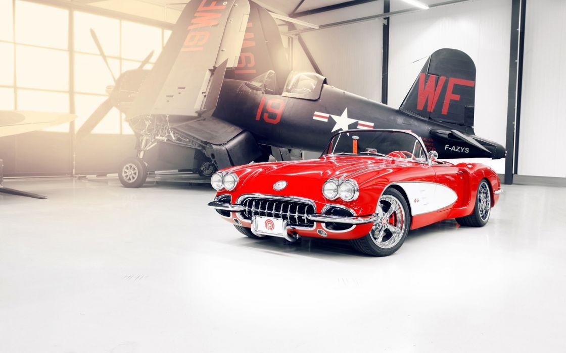 Custom Chevrolet Corvette 1959 wallpaper