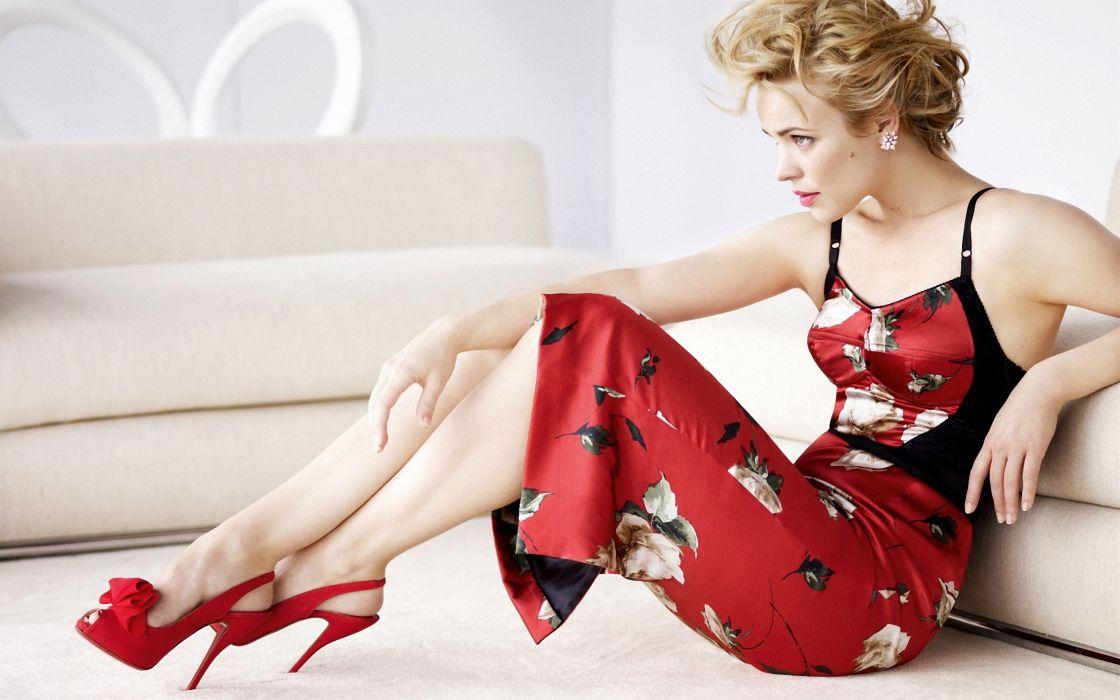 Rachel Mcadams Red Dress wallpaper