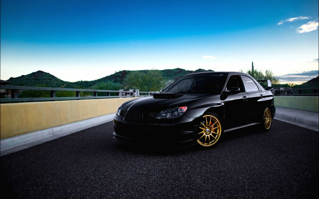 Subaru Impreza Wrx Black wallpaper