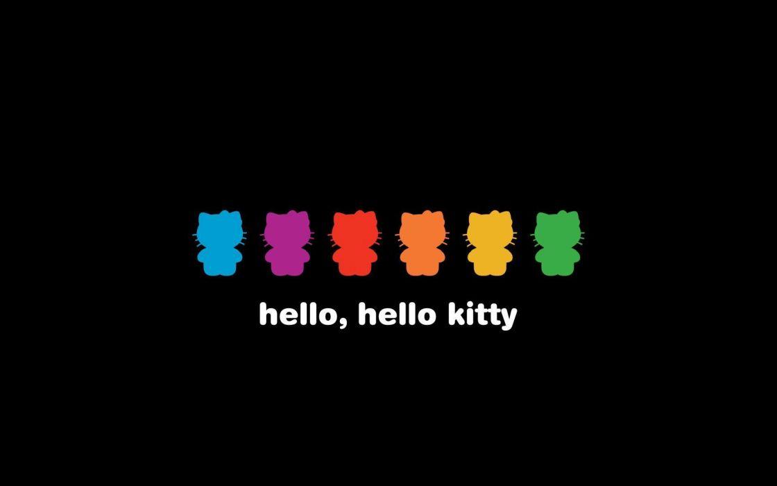 Hello Kitty Shapes wallpaper