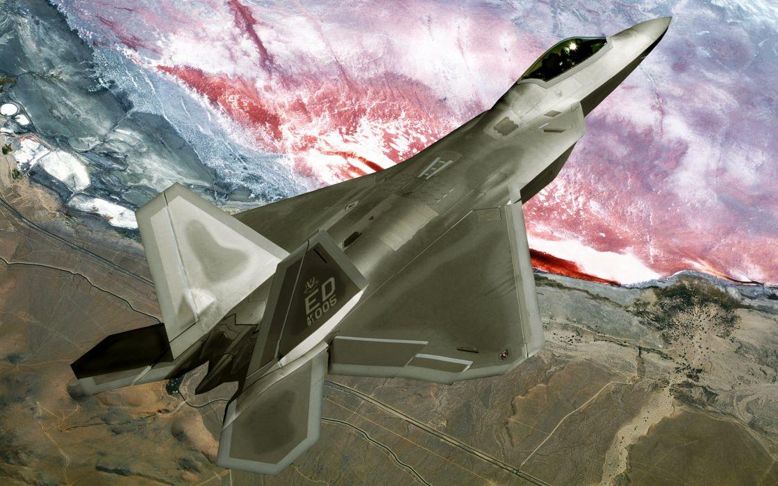 F22 raptor fly over wallpaper