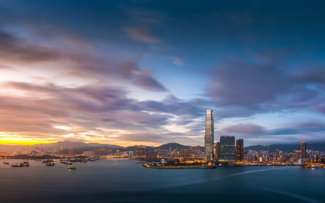 Hong Kong Sunset wallpaper