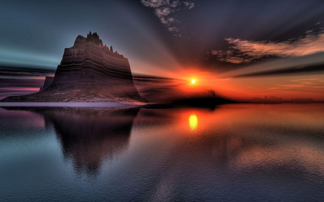Superb Sunset Reflection wallpaper