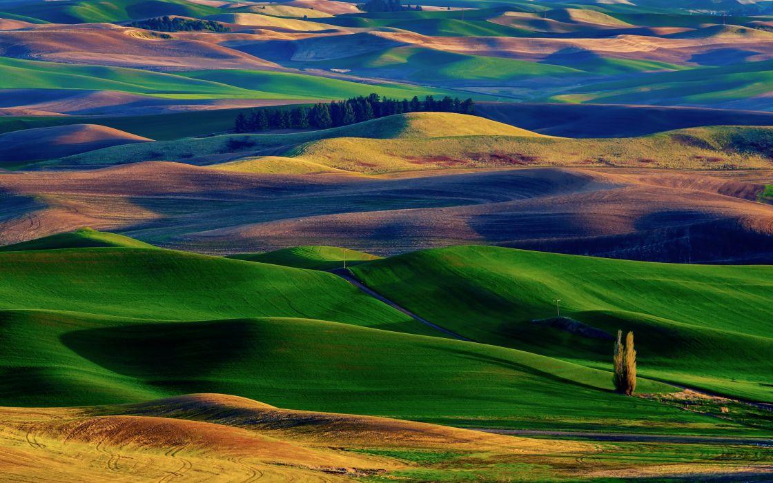 Amazing Colorful Hills wallpaper