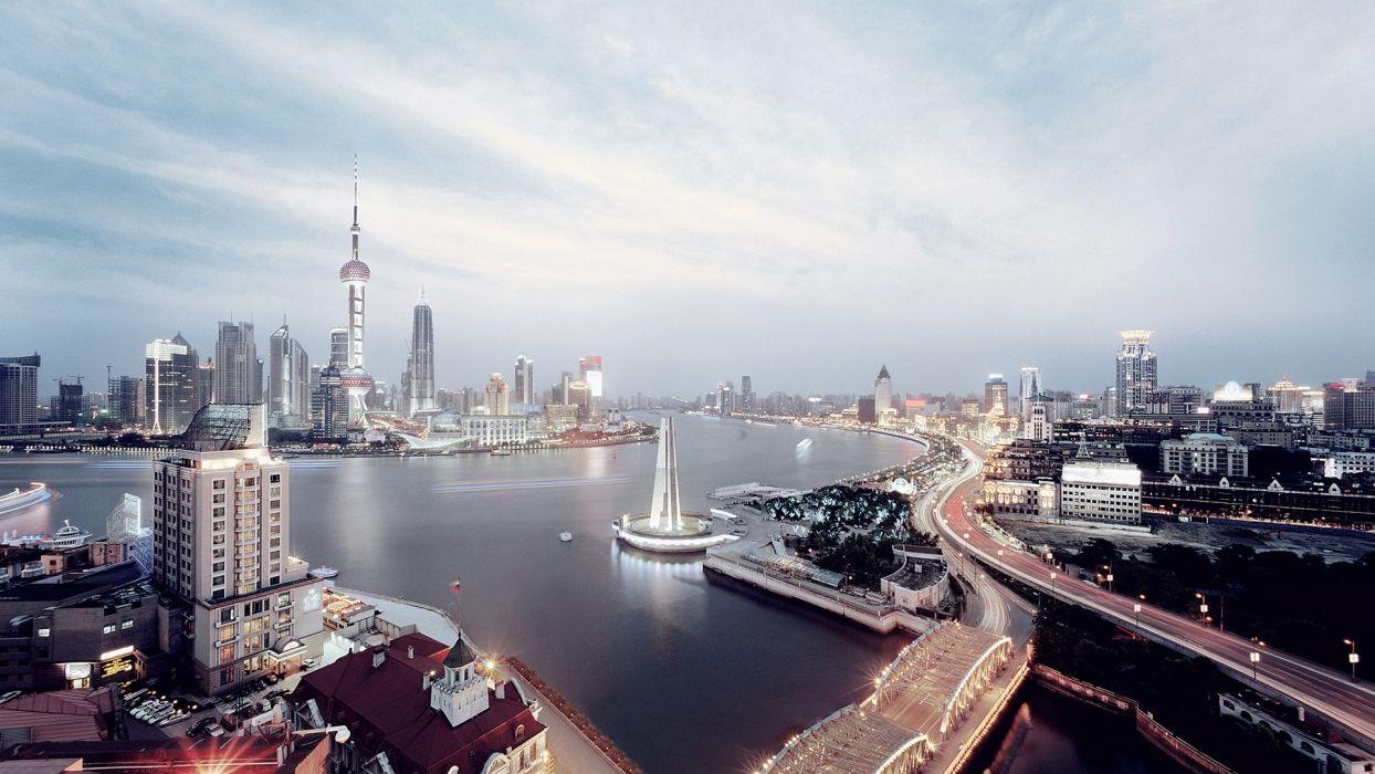 Shanghai Skyline wallpaper