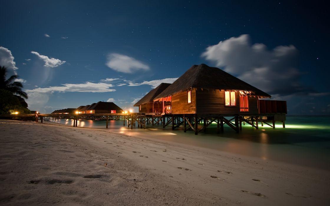 Amazing Night Beach Landscape wallpaper
