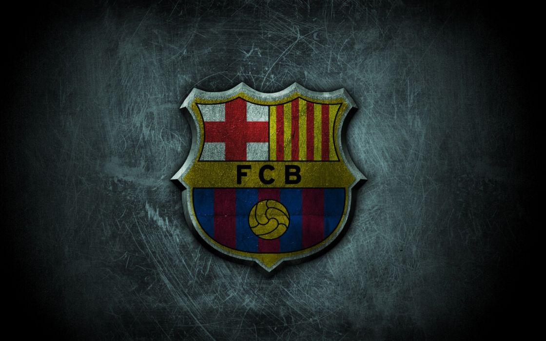 Fc Barcelona Grunge Logo wallpaper