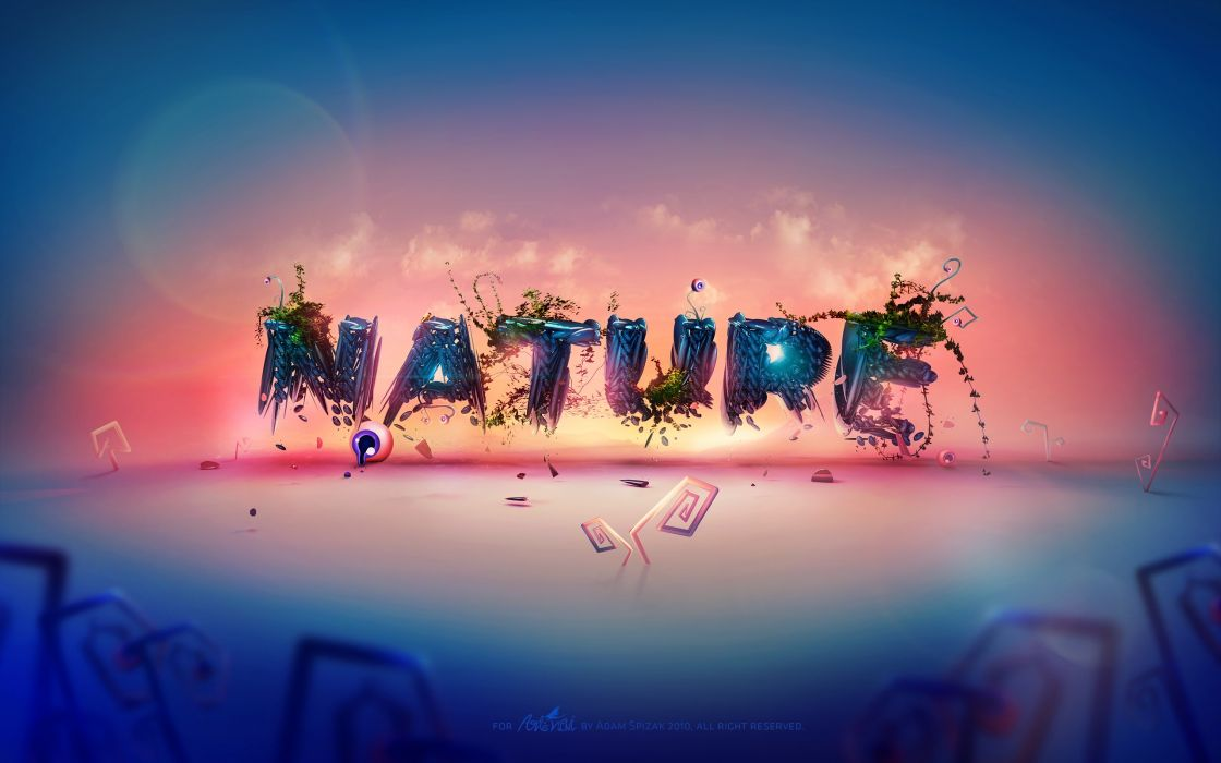 Nature typography wallpaper