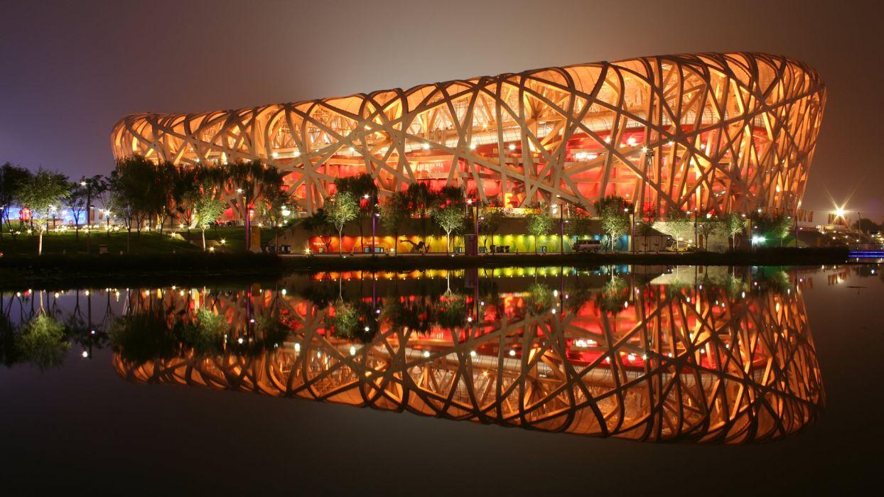 Birds Nest Stadium Beijing China wallpaper