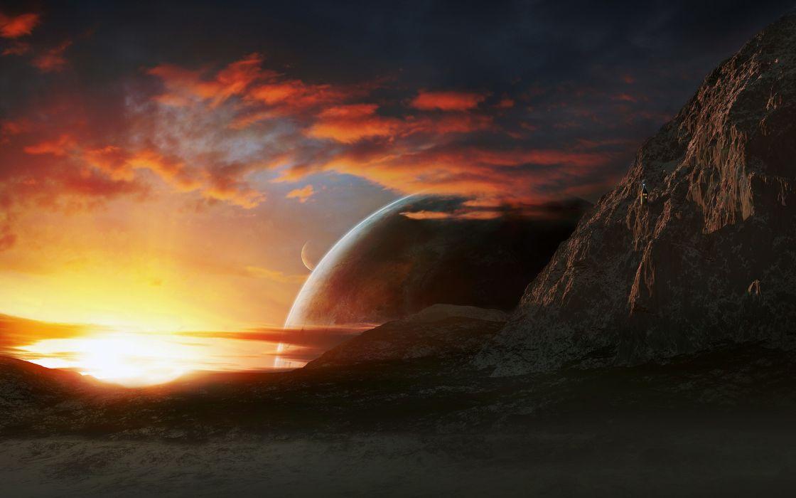 Fire Sunset wallpaper